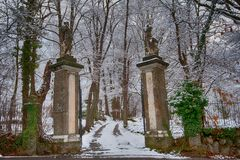 Entrance gate to a park royalty free stock images