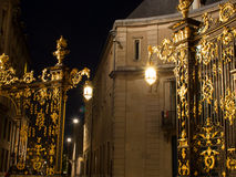 Entrance Gate To Place Stansilas At Night Stock Photo