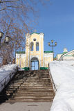 Entrance gate to the Roman  Catholic Church, Tomsk, Russia Stock Photography