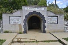 Entrance gate to the Rosia Montana roman mine museum. Royalty Free Stock Photos