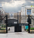 Entrance gate to the Royal Canadian Mint. A view of the entrance gate to the royal canadian mint on sussex drive in ottawa, ontario,canada Stock Photo