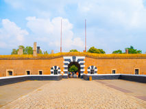 Entrance gate to Small Fortress of Terezin Stock Photos