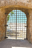 Entrance gate to Spinalonga Island. Stock Photos