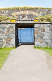 Entrance to Suomenlinna fortress in Helsinki, Finland. Entrance gate to Suomenlinna fortress in Helsinki, Finland in summer Royalty Free Stock Photo
