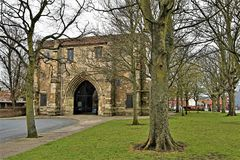 Free Entrance Gate To The Priory Church Of St Mary, Bridlington 2, In Easter 2019. Stock Image - 144215121