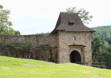 Entrance gate on Velhartice Castle Royalty Free Stock Images