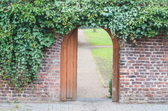 Entrance gate in a wall Stock Image