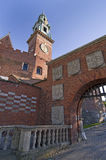 Entrance gate at Wawel castle in Krakow Royalty Free Stock Image