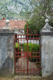 Entrance gate. Wrought iron gate in the village of Dobrota (Montenegro Stock Photos