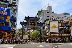 entrance gate of Yokohama China Town Stock Images
