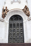 Entrance gates of Christ the Savior Church in Moscow, Russia Royalty Free Stock Photos