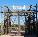 Entrance gates at Natzwiller-Struthof concentration camp, France Royalty Free Stock Photo