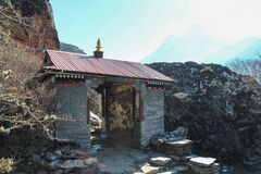 Free Entrance Gates To Panboche Village In Himalayas Royalty Free Stock Photos - 177844138
