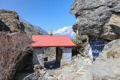 Free Entrance Gates To Panboche Village In Himalayas Stock Images - 177845184