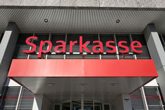 Entrance of a German Sparkasse Royalty Free Stock Photography