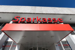 Entrance of a German Sparkasse Stock Photography