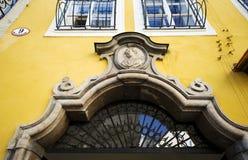 Entrance of Getreidegasse 9 - Mozart's birthhouse in Salzburg Stock Photos