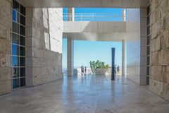 Entrance of getty center museum stock photography