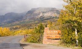 Entrance Glacier National Park Welcome Sign Marker Montana Royalty Free Stock Image