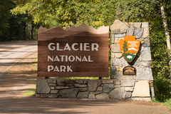 Entrance Glacier National Park Welcome Sign Marker Montana Royalty Free Stock Photography