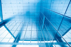 Entrance in glass building Royalty Free Stock Images