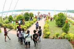 The Entrance of the Gospel in Papua Island. Crowdy people celebrating an annual big religious celebration in Manokwari, West Papua. The 162th years of Gospel in Royalty Free Stock Photography