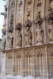 Entrance of the gothic cathedral of Santa Maria in Castello d Em Royalty Free Stock Images