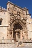 Entrance of the Gothic church of Santa Maria la Real, Aranda de. Duero, Burgos province, Castilla y Leon Royalty Free Stock Photo