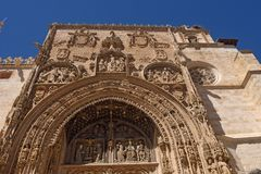 Entrance of the Gothic church of Santa Maria la Real, Aranda de. Duero, Burgos province, Castilla y Leon Stock Photography