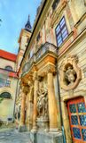 Entrance of Governor`s Palace in Brno, Czech Republic. Entrance of Governor`s Palace in Brno - Moravia, Czech Republic Stock Photo