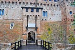 Entrance of Gradara castle Stock Photography