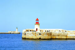 Entrance, Grand Harbour, Malta. Stock Photos