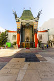 Entrance of Grauman's Chinese Theatre in Hollywood, Los Angeles. LOS ANGELES - JUNE 26: Grauman's Chinese Theatre on June 26, 2012 in Los Angeles, CA. There are royalty free stock photos