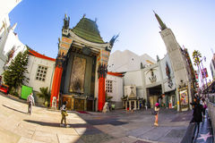 Entrance of Grauman's Chinese Theatre in Hollywood, Los Angeles. LOS ANGELES - JUNE 26: Grauman's Chinese Theatre on June 26, 2012 in Los Angeles, CA. There are stock photography