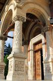 Entrance of the Great Church at the Sinaia Monastery, Romania. Entrance of the Great Church at the Sinaia Monastery, Prahova County, Romania royalty free stock image