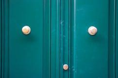 Entrance green door metal door Stock Image