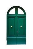Entrance green door metal door. Royalty Free Stock Photography