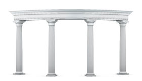 Entrance group with columns in the classical style Royalty Free Stock Photo