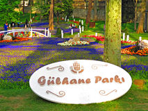 Entrance in Gulhane Park from the Keneddy Caddesi street Stock Photo