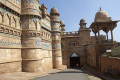 Entrance of Gwalior Fort Stock Photo