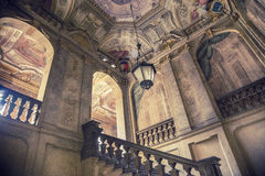 Entrance hall of a abandoned building Royalty Free Stock Image