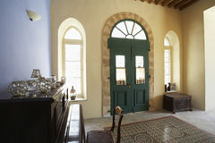 Entrance Hall Of Antique House Stock Photos