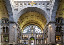 Entrance hall of Antwerp Central station. In Antwerp, Belgium Royalty Free Stock Photography