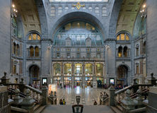 Entrance hall of the Antwerp Central train station Stock Photo