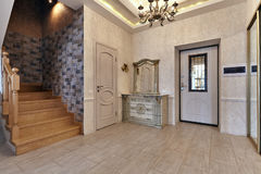 Entrance hall. With a beautiful interior Stock Image