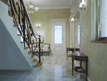Entrance hall classic style Stock Images
