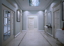 Entrance hall constructivism style Royalty Free Stock Images