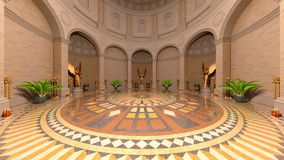 Entrance hall. 3D CG rendering of entrance hall Royalty Free Stock Photography