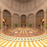 Entrance hall. 3D CG rendering of entrance hall Stock Photo