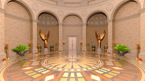 Entrance hall. 3D CG rendering of entrance hall Royalty Free Stock Photos